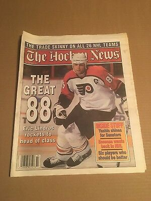 The Hockey News, Apr 7, 1995, Vol 48 No 29, 48 Pages, 11 X 16, Lindros Great 88