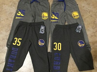 NEW NBA Store Warriors  Curry  Durant Numbers Joggers Sweat Pants Youth Sizes KD