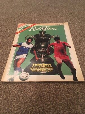 Radio Times. FA Cup. Everton V Liverpool. 10-16 May 1986
