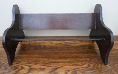 Vintage Edwardian book trough shelf,park bench style, DVD CD storage windowsill