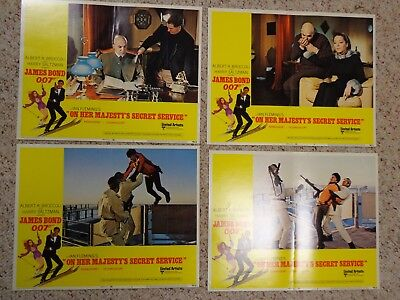 James Bond 007 Original 1970 ON HER MAJESTY'S SECRET SERVICE US Lobby Set of 8