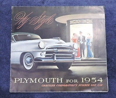 Plymouth For 1954 Hy-Style Sales Brochure - Full Line