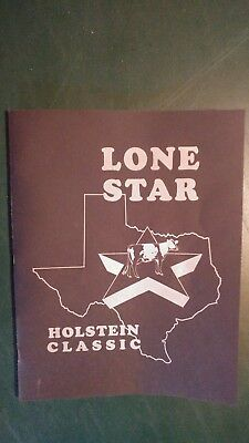 Lone Star Classic Holstein Dairy Cattle Sale Catalog 1994 Haslet Texas