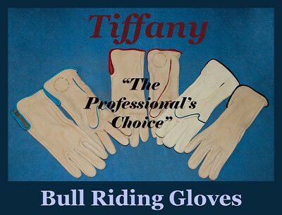 TIFFANY Bull Riding Gloves - RIGHT HAND, Choice of Sizes and Trim Color-rodeo  A