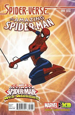 The Amazing Spider-Man Issue #14 Jeff Wamester Marvel Animation Cover Comic!