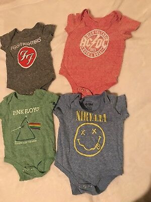 Baby Boy clothes Band Tees Lot