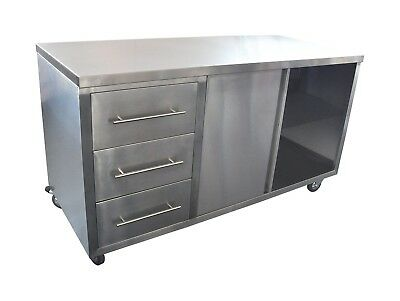 Stainless Steel Coffee Cart- H900xL1600xD700mm