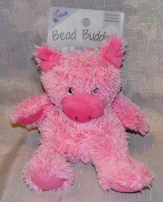 Bead Buddies Pink PIG Plush Aromatherapy Lavender Scent Hot Cold Therapy NEW