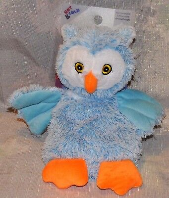Bead Buddies Blue OWL Plush Aromatherapy Lavender Scent Hot Cold Therapy NEW