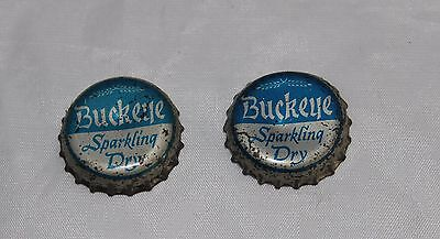 2 Buckeye Sparkling Dry Beer Bottle Caps Crowns Free Shipping
