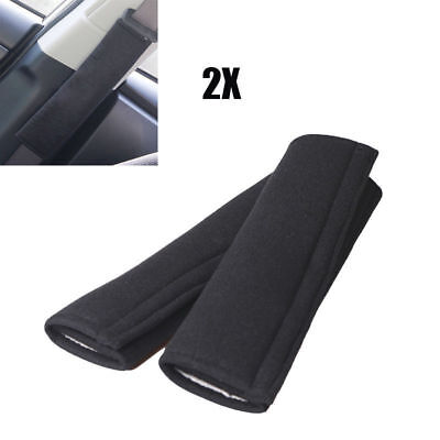 2pcs Auto Car Safety Seat Belt Shoulder Protective Pads Synthetic Fiber + Spong