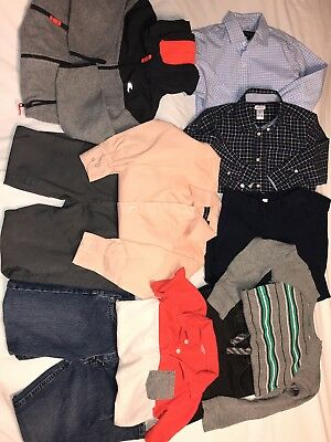 Boys Big Lot size 7 Fall Winter Shirts Pants Jeans Clothes Outfits 10 pc