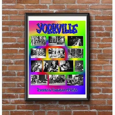Yorkville Summer of Love Poster - 1967 Hippies Toronto Coffee House Music Scene