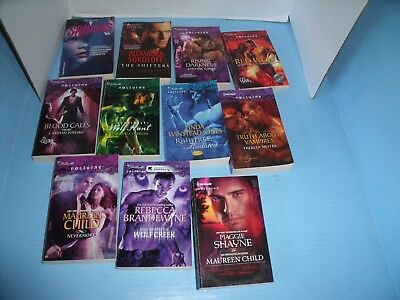 Lot Of 11 Harlequin Nocture & Shadows '93 Paranormal Romance*red Wolf*shifters