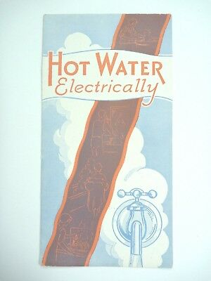 Mid-Century Red Crown Electric Water Heater Pamphlet Booklet Advertisement Rare!