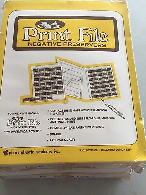100 Pack Print File Archival 35mm Negative Preservers 35-7B new old stock