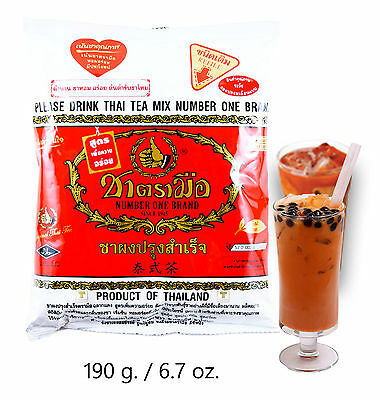 THAI TEA MIX NUMBER ONE BRAND ORIGINAL OF THAILAND SINCE 1945 Thai Iced Tea