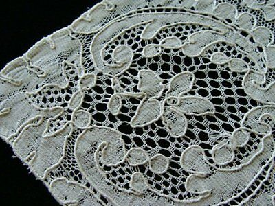 Beautiful Vintage French Alencon Lace Doily Placemat White PRISTINE Unused
