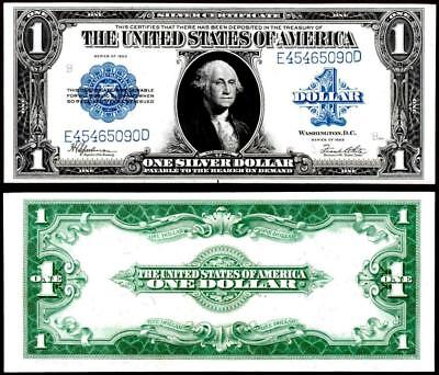1923 $1~~Large Size ~Silver Certificate Note ~~Crisp Almost Uncirculated~~