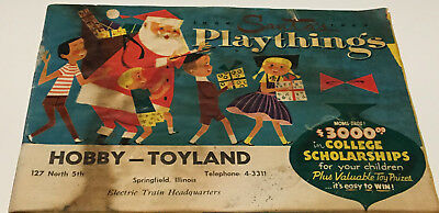 1956-57 Santa's Playthings Hobby - Toyland Catalog, Springfield, IL - 39 pages