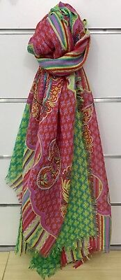 Vera Bradley Printed Poly Scarf in Paisley in Paradise