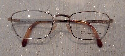 Vintage Christian Dior 2955 (47) Gold 52/19 Eyeglass Frame New Old Stock