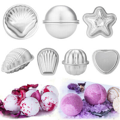 2-16pcs Conch Shape Metal Aluminum Bath Bomb Mold DIY Homemade Crafting Tool