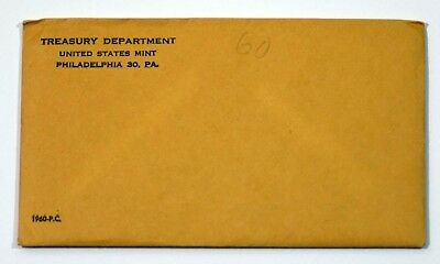 1960 U.S. Mint Silver Proof Set In Sealed Original Envelope Unopened