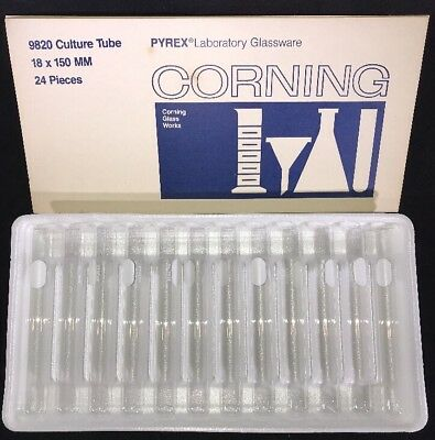 9820 Culture Tube Pack of 6 PYREX Glass Test Tubes 18x150mm Corning Glass Works