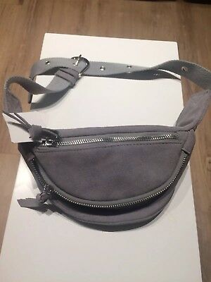 Grey suede fanny pack women Urban Outfiters