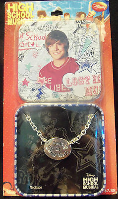Disney High School Musical - Lost In the Music Necklace +Tin Original Packing