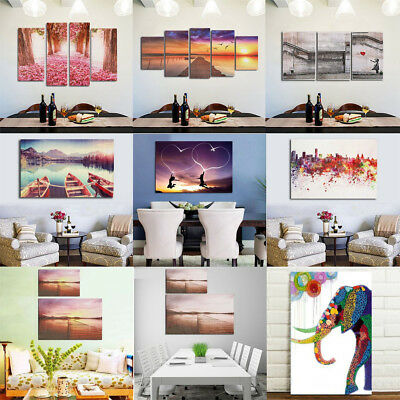 Modern Abstract Unframed Canvas Print Painting Picture Wall Mural Home Decor UK