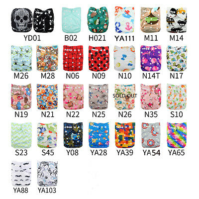 10 Cloth Diapers+ 10Inserts One Size Pocket Nappies One Diaper Bag In US U Pick