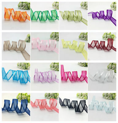 "5Yards 3/4"" (20mm) Satin Edge Organza Ribbon Bow Wedding Decoration Lace Crafts"