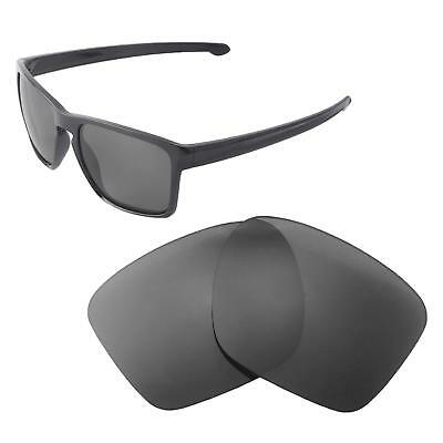 0461a1e5e5f29 New Walleva Black Polarized Replacement Lenses For Oakley Sliver XL  Sunglasses