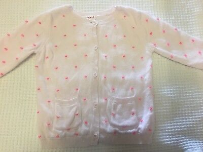 Baby Girl Twins SEED HERITAGE Sweet Pastel Pink Knit Cardigan - VGUC - Size 0
