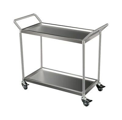 Heavy Duty Stainless Trolley, 2-Tier with Castors Perth