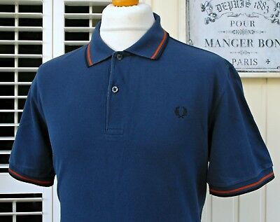 Fred Perry M1200 Carbon Twin Tipped Polo - L/XL - Casuals Ska Mod Scooter Skins