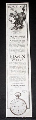 1914 Old Magazine Print Ad, Elgin Watch, The Horse That Fell At Klipriver Drift!