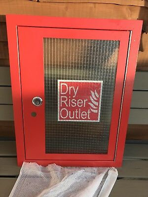 Dry Riser Cabinet Vertical Inlet/Outlet Architrave and Door Red Brand New