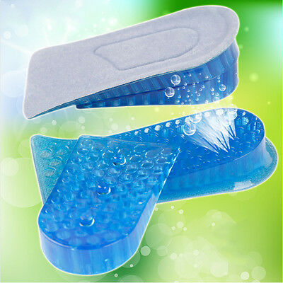 Heel Lift Taller Shoe Inserts Height Increase Insoles Pads Silicone Gell HOT.