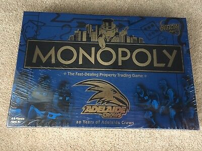 MONOPOLY Official AFL Adelaide Crows 20 Years Board Game - Brand New & Sealed