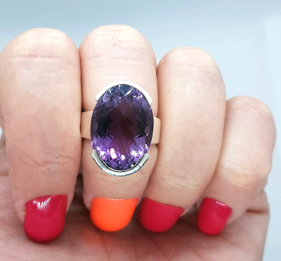 Amethyst Ring, Size 6 3/4 US, 925 Sterling Silver, Brand NEW ♡♡♡