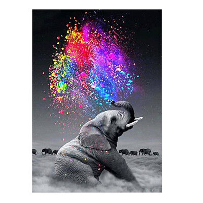 Elephant 5D Diamond Embroidery Painting Cross Stitch DIY Craft Home Decor Gift