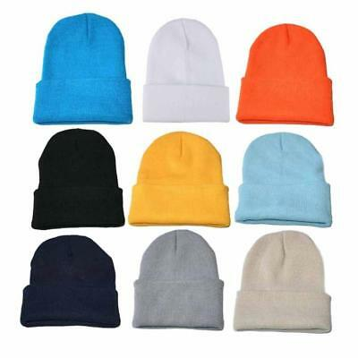 Hot Men Women Knitted Baggy Beanie Winter Warm Hat Ski Slouchy Knitted Cap Hat