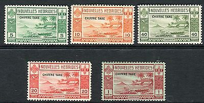 NEW HEBRIDES (French)-1938 Postage Due.  A lightly mounted mint set Sg FD65-69