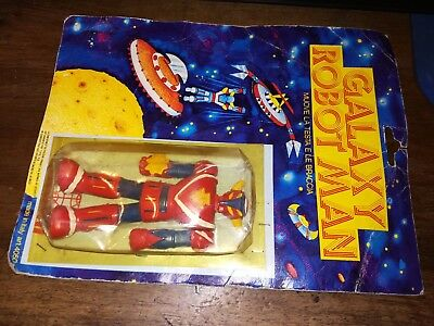 Galaxy Robot Man Eurostil Mint On Card Goldorak Goldrake   Vintage Raro
