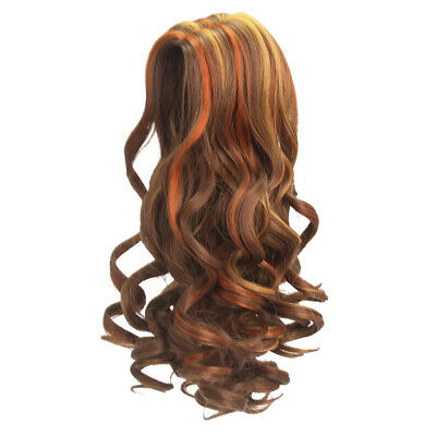 Trendy Full Head Brown Curly Hair Wig Hairpiece for 18'' American Girl Dolls