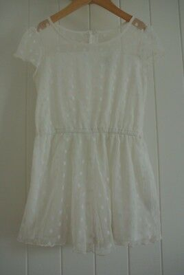 Lacey Polka Girls Dress SZ 10 Vintage Style Classic Stylish Formal Casual Party
