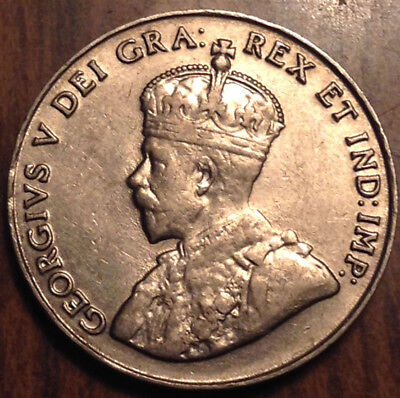 1926 Canada 5 Cents Keydate Coin In Better Grade !